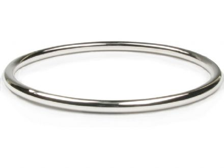 Fully Round Sterling Silver Slave Bangles 3mm